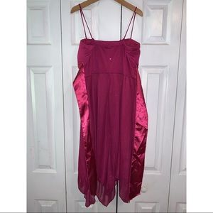 Speechless Dresses - All sparkled magenta semi formal dress.